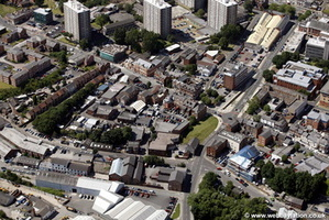 Hillgate Stockport aerial photograph