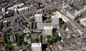 Mottram Street Redevelopment Area Stockport  Cheshire from the air