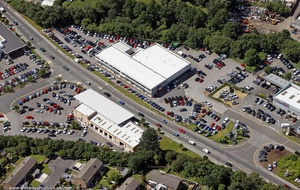 RRG Toyota Stockport  from the air