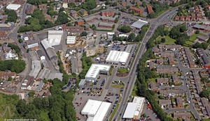 St Marys Way Stockport  from the air
