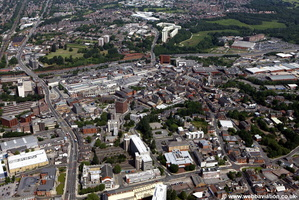 Stockport  town centre Stockport aerial photo