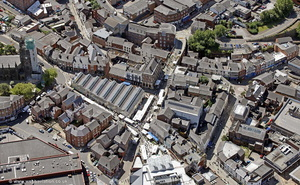 Stockport Market   from the air