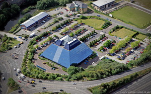 Stockport Pyramid  from the air