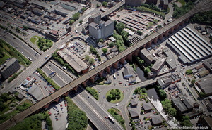 Stockport Viaduct from the air