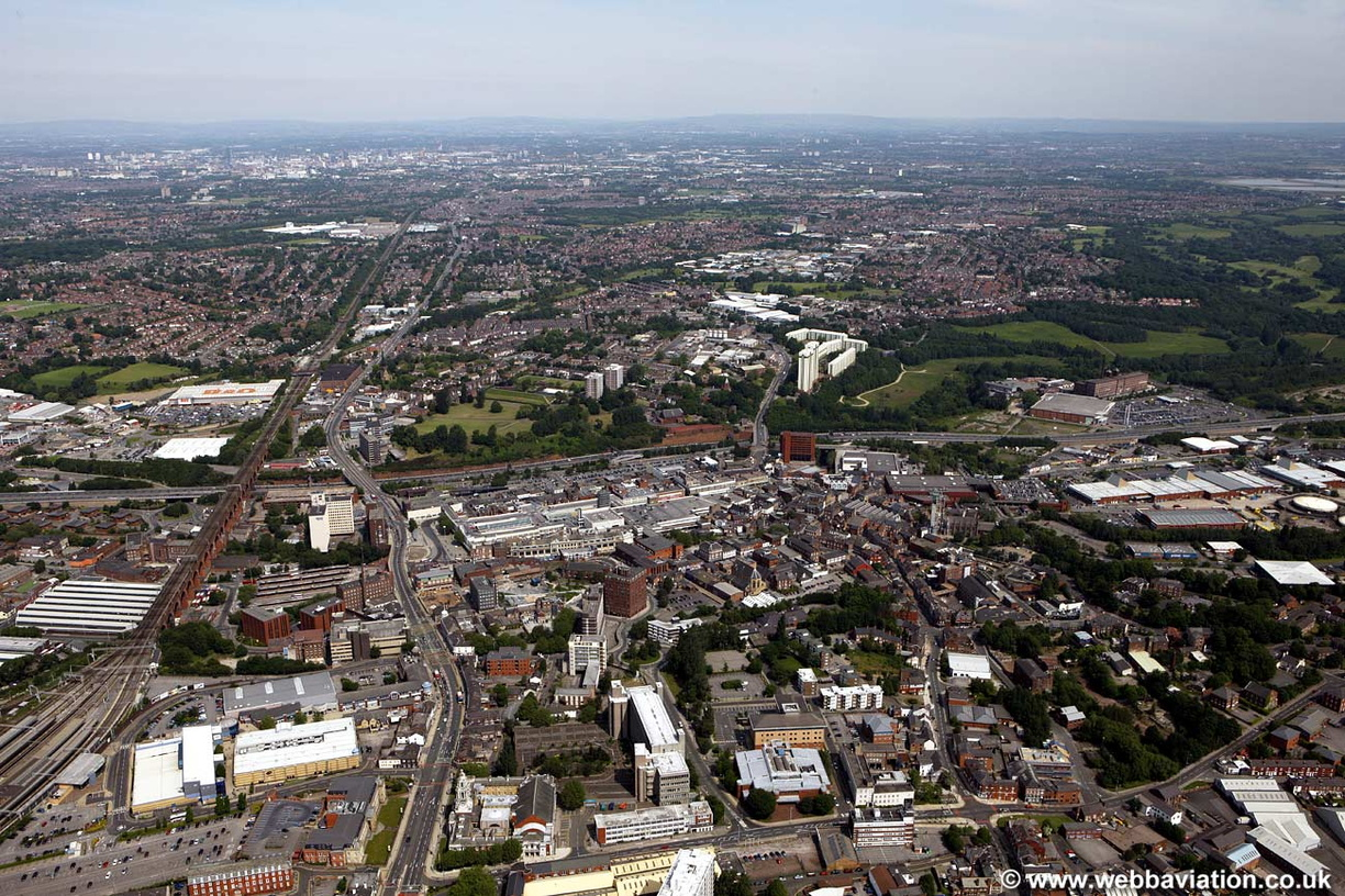 Image result for stockport aerial pic