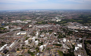 Stockport from the air