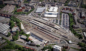 Stockport railway station from the air