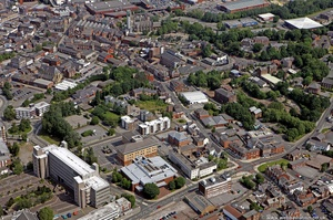 Lower Hillgate Stockport   from the air
