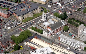 Stockport Town Hall Stockport from the air