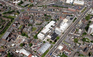 Stockport College from the air