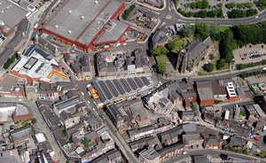 site of Stockport Castle from the air