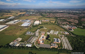 Lingley Mere Business Park  aerial photograph