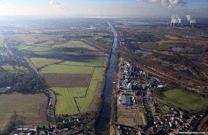 Manchester Ship Canal at Warrington aerial photograph