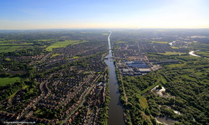 Manchester Ship Canal from the air