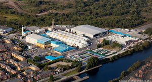Novelis aluminium  recycling plant  Latchford  Warringtonfrom the air