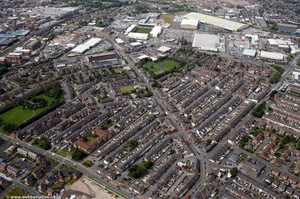 Orford Lane Warrington from the air