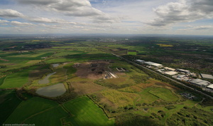 Risley Landfill waste tip site  Warrington  aerial photograph