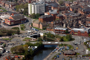 Warrington  from the air