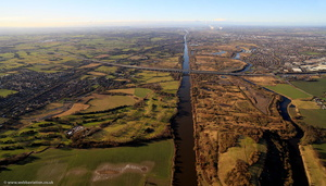 the Manchester Ship Canal at Warrington  aerial photograph