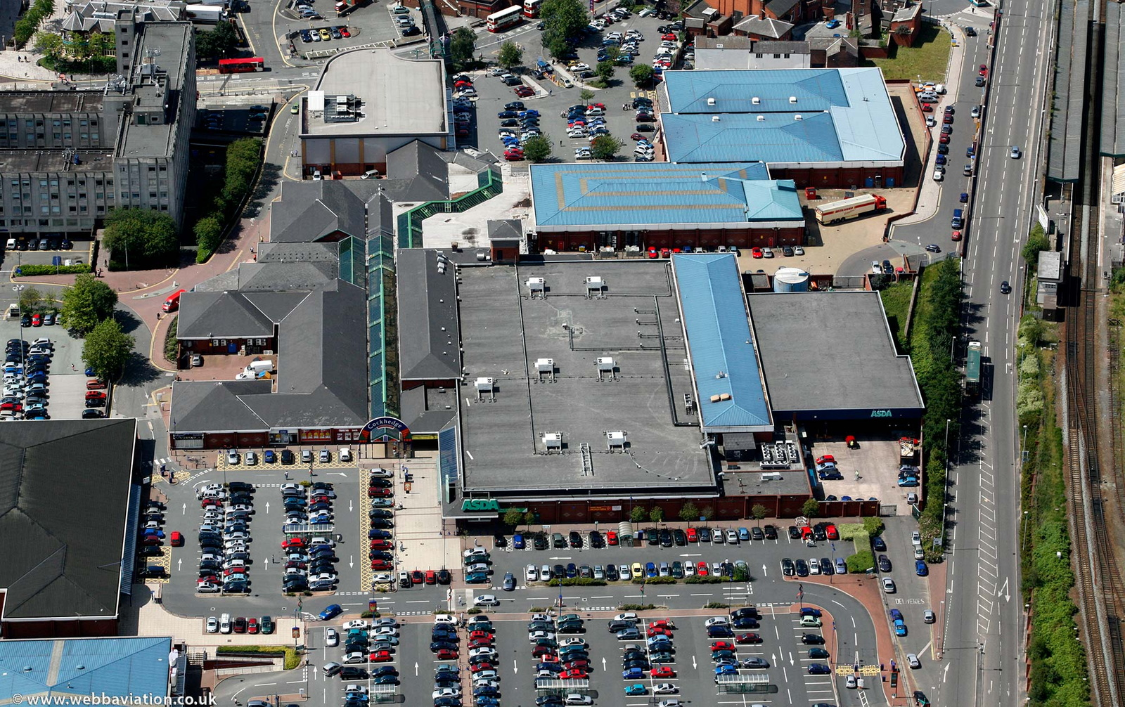 Asda Warrington Superstore from the air