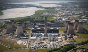 Fiddlers Ferry coal fired power station from the air