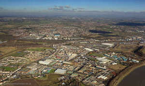 Halebank Industrial Estate, Halebank, Widnes, WA8 from the air