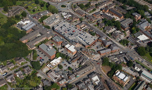 Wilmslow showing the area around   Church Street  from the air