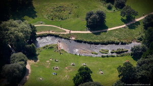 River Bollin Wilmslow  from the air