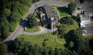 St Bartholomew's Church, Wilmslow  from the air