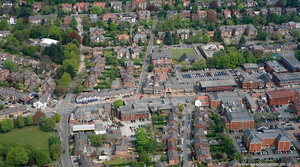 Water Lane Wilmslow  from the air