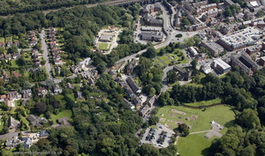 Wilmslow showing the area around St Bartholomew's Church from the air