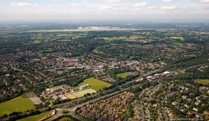 Wilmslow  from the air