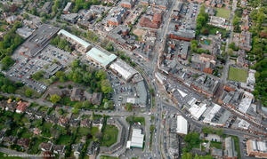 Wilmslow town centre from the air