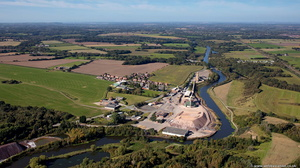 Winsford Rock Salt Mine from the air