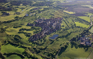 Gorstyhill Golf Club site Wychwood Village, Crewe from the air