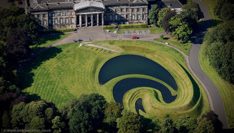 "Charles Jencks ""Landform"" at  the Scottish National Gallery of Modern Art  Edinburgh from the air"