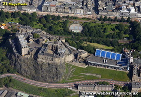 Edinburgh Castle   Edinburgh Scotland  UK aerial photograph