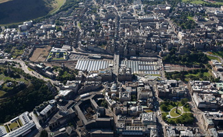 Edinburgh station from the air