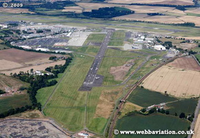 Edinburgh Airport Edinburgh Scotland  UK aerial photograph