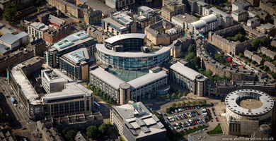 Exchange Place Edinburgh  from the air