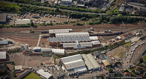 Haymarket TMD Traction Maintenance Depot Edinburgh from the air