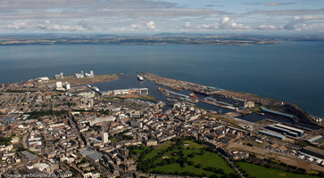 Leith  Edinburgh from the air