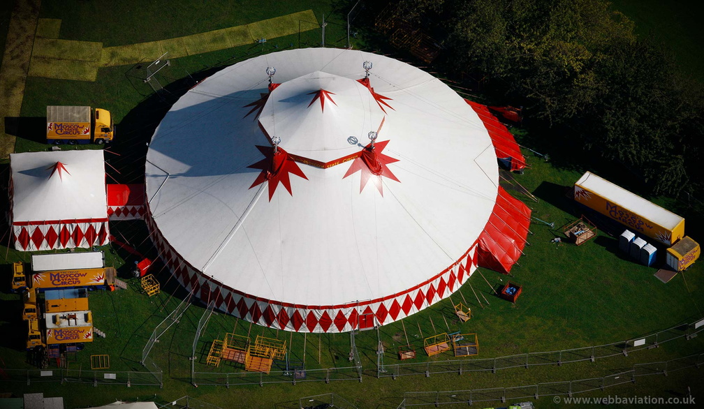 Moscow State Circus Big Top from the air
