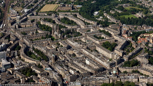 New Town  Edinburgh from the air