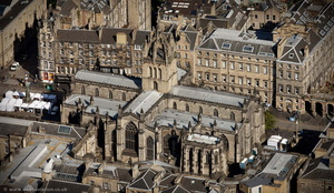 St Giles' Cathedral Edinburgh from the air