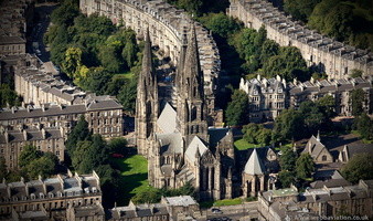 St Mary's Cathedral, Edinburgh from the air
