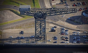 Clydeport crane Glasgow Scotland   UK aerial photograph