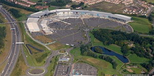 Glasgow Fort shopping retail park Scotland   UK aerial photograph