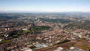 Glasgow Scotland   UK aerial photograph