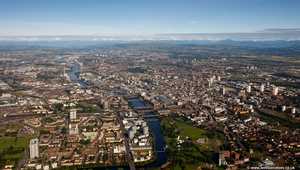 the River Clyde Glasgow Scotland   UK aerial photograph